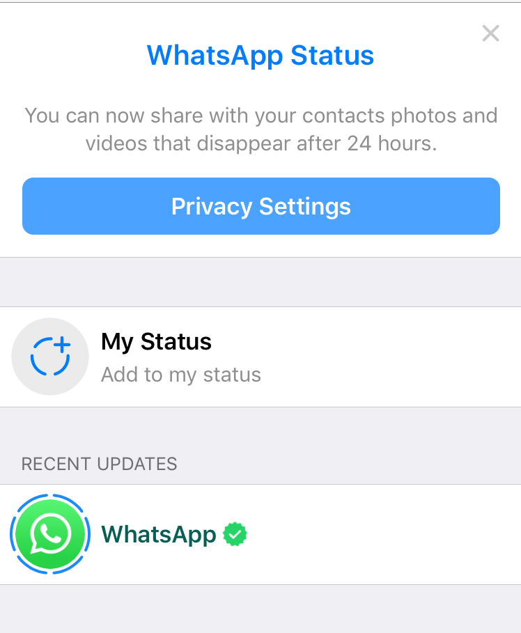 Whats App stories