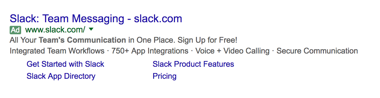 slack advertising on adwords