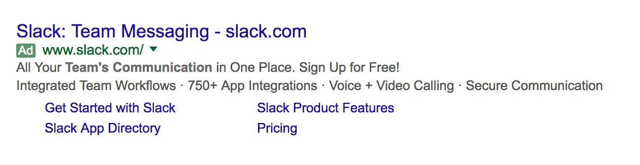 slack advertising on adwords
